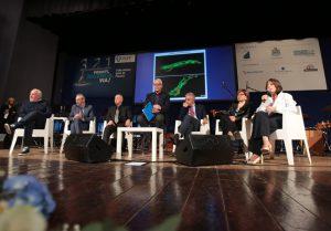 Anna Berardi illustra il progetto sulle micro vescicole nella serata di presentazione della Fondazione PCFF Onlus (foto Giampiero Lattanzio)